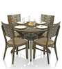 Sydney Four Seater Round Dining Set in Dirty Green Colour by Royal Oak