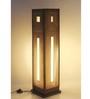 Sylvn Studio Brown Corrugated Board Okno  Floor Lamp
