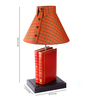 Sylvn Studio Red Fabric Storyteller Table Lamp