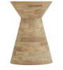 Syros Solid Wood Side Table in Natural Finish by TheArmchair