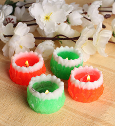Tanariri Hastkala Multicolour Floating Candle - Set Of 4 - 1516995