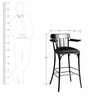Take5 Bar Chair in Black Colour by Tube Style