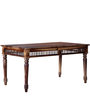Taksh Handcrafted Six Seater Dining Table in Provincial Teak Finish by Mudramark