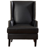 Talfreda Wingback Chair in Black Colour by Madesos