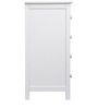 Tall Chest of Drawers in White Colour by Asian Arts