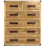 Tall Urban Chic Leather Handle Chest Of Drawers by Asian Arts
