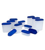 Tallboy Mahaware Space Saver Blue Storage Container - Set of 12