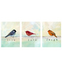Tallenge Canvas 36 x 0.5 x 18 Inch Live Love Laugh Triptych Premium Quality Ready to Hang Framed Art Panels - Set of 3