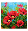 Tallenge Canvas 43 x 1 x 43 Inch Oil Painting Poppies in Bloom Framed Large Digital Art Print