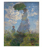 Tallenge Canvas 43 x 1 x 54 Inch Woman with A Parasol Madame Monet & Her Son by Claude Monet Framed Large Digital Art Print