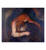 Tallenge Canvas 53 x 1 x 43 Inch Vampire by Edvard Munch Framed Large Digital Art Print