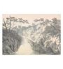 Tallenge Canvas 62 x 1 x 43 Inch Landscape with Waterfall Art by J. M. W. Turner Framed Large Digital Art Print