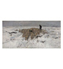 Tallenge Canvas 91 x 1 x 43 Inch Flock of Sheep with Shepherd in The Snow by Anton Mauve Framed Large Digital Art Print