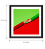 Tallenge Paper & Glass 12 x 12 Inch  Color Pencils Framed Photo Print