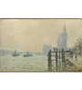 Tallenge Gallery Wrap Canvas 12 x 18 Inch Old Masters Collection The Thames Below Westminster by Claude Monet Framed Digital Art Prints