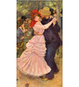 Tallenge Gallery Wrap Canvas 12 x 24 Inch Old Masters Collection Dance At Bougival by Pierre-Auguste Renoirs Framed Digital Art Prints