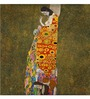 Tallenge Gallery Wrap Canvas 18 x 18 Inch Old Masters Collection Hope by Gustav Klimts Framed Digital Art Prints