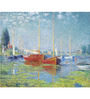 Tallenge Gallery Wrap Canvas 18 x 24 Inch Old Masters Collection Argenteuil by Claude Monets Framed Digital Art Prints