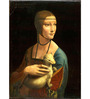 Tallenge Gallery Wrap Canvas 18 x 24 Inch Old Masters Collection Lady with An Ermine by Leonardo Da Vincis Framed Digital Art Prints