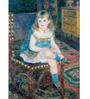 Tallenge Gallery Wrap Canvas 18 x 24 Inch Old Masters Collection Pierre-Auguste Renoir's 'Mlle Georgette Charpentier Seated by Pierre-Auguste Renoirs Framed Digital Art Prints
