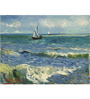 Tallenge Gallery Wrap Canvas 18 x 24 Inch Old Masters Seascape Near Les Saintes-Maries-De-La-Mer by Vincent Van Gogh Framed Digital Art Print