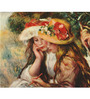 Tallenge Gallery Wrap Canvas 18 x 24 Inch Old Masters Collection Two Girls Drawing by Pierre-Auguste Renoirs Framed Digital Art Prints