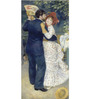 Tallenge Photographic Paper 12 x 24 Inch Old Masters Collection A Dance In The Country by Pierre-Auguste Renoirs Framed Digital Art Prints