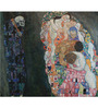 Tallenge Photographic Paper 18 x 18 Inch Old Masters Collection Death & Life by Gustav Klimts Framed Digital Art Prints