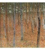 Tallenge Photographic Paper 18 x 18 Inch Old Masters Collection Forest of Beech Trees by Gustav Klimts Framed Digital Art Prints