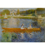 Tallenge Photographic Paper 18 x 24 Inch Old Masters Collection Boating on The Seine by Pierre-Auguste Renoirs Framed Digital Art Prints