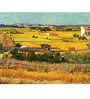 Tallenge Photographic Paper 18 x 24 Inch Old Masters Collection Harvest At La Crau with Montmajour In The Background by Vincent Van Gogh Framed Digital Art Prints