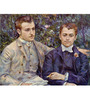 Tallenge Photographic Paper 18 x 24 Inch Old Masters Collection Portrait of Charles & Georges Durand-Ruel by Pierre-Auguste Renoirs Framed Digital Art Prints