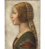 Tallenge Photographic Paper 18 x 24 Inch Old Masters Collection Profile of A Young Fiancee by Leonardo Da Vincis Framed Digital Art Prints