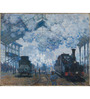 Tallenge Photographic Paper 18 x 24 Inch Old Masters Collection Saint Lazare Station In Paris, Arrival of A Train by Claude Monet Framed Digital Art Prints