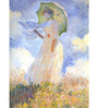 Tallenge Photographic Paper 18 x 24 Inch Old Masters Collection Woman with Parasol by Claude Monet Framed Digital Art Prints