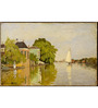 Tallenge Rolled Canvas 12 x 18 Inch Old Masters Collection Houses on The Achterzaan by Claude Monet Unframed Digital Art Prints
