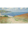 Tallenge Rolled Canvas 12 x 24 Inch Old Masters Collection Path In The Wheat At Pourville by Claude Monet Unframed Digital Art Prints