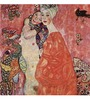 Tallenge Rolled Canvas 18 x 18 Inch Old Masters Collection Girlfriends Or Two Women Friends by Gustav Klimt Unframed Digital Art Prints