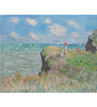 Tallenge Rolled Canvas 36 x 48 Inch Old Masters Collection Cliff Walk At Pourville by Claude Monet Unframed Digital Art Prints