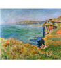 Tallenge Rolled Canvas 36 x 48 Inch Old Masters Collection Cliffs At Varengeville by Claude Monet Unframed Digital Art Prints
