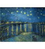 Tallenge Rolled Canvas 36 x 48 Inch Old Masters Collection Starry Night Over The Rhone by Vincent Van Gogh Unframed Digital Art Prints