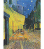 Tallenge Rolled Canvas 36 x 48 Inch Old Masters Collection The Cafe Terrace on The Place Du Forum by Vincent Van Gogh Unframed Digital Art Prints