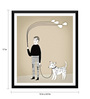 Tallenge Paper 12 x 0.5 x 17 Inch A Man & His Love Framed Digital Poster