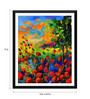 Tallenge Paper 12 x 0.5 x 17 Inch Beautiful Red Flower Garden Framed Digital Poster