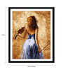 Tallenge Paper 12 x 0.5 x 17 Inch Girl with The Violin Framed Digital Poster