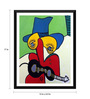 Tallenge Paper 12 x 0.5 x 17 Inch Guitarist with Hat Framed Digital Poster