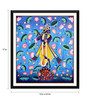 Tallenge Paper 12 x 0.5 x 17 Inch Krishna Playing Flute Painting Framed Digital Poster