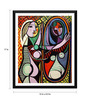 Tallenge Paper 12 x 0.5 x 17 Inch Pablo Picasso Girl Before A Mirror Framed Digital Poster