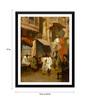 Tallenge Paper 12 x 0.5 x 17 Inch Promenade on An Indian Street Framed Digital Poster