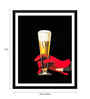 Tallenge Paper 12 x 0.5 x 17 Inch Wanna Have A Drink! Framed Digital Poster